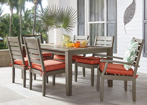 Newport Gray 7 Pc. Dinette w/Cushions