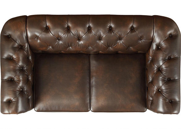 Barrington Faux Leather Loveseat