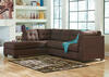 MARLO 2 PC RAF SLPR SECTIONAL WALNUT