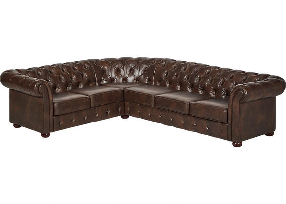 Barrington Faux Leather 6-Seat Sectional