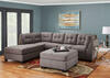 Marlo 3 Pc Raf Sectional Charcoal The Roomplace