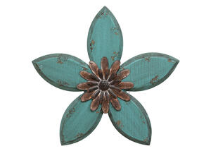 Antique Flower Wall Decor Blue