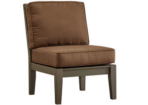 Newport Gray Armless Chair