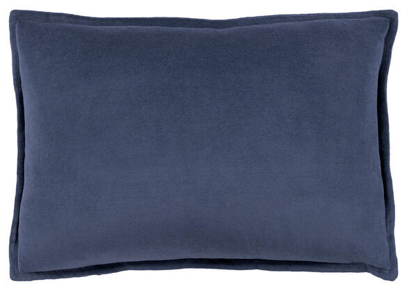 Cotton Velvet Throw Pillow Navy