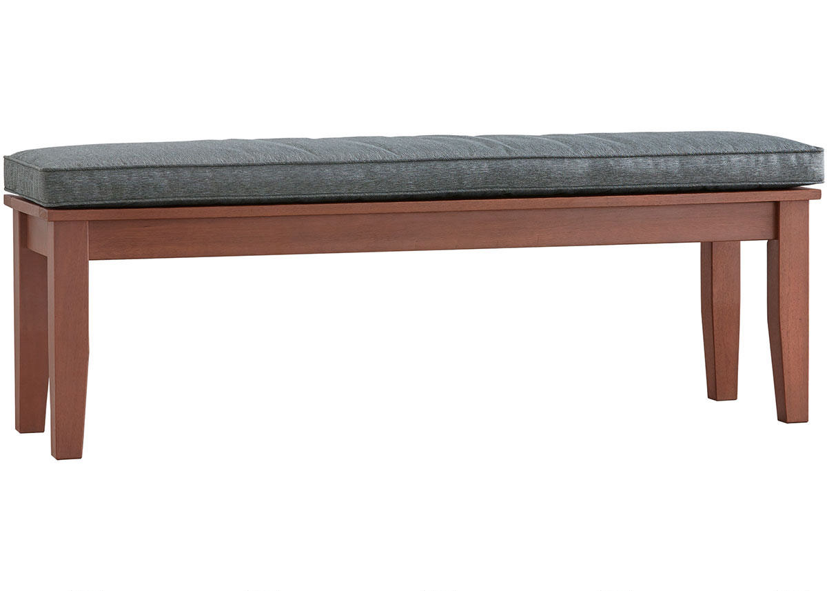 Newport Brown Backless Dining Bench W/Cushion