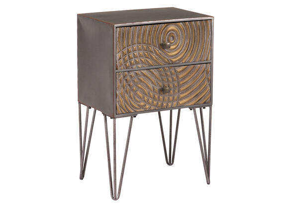 Circulos End Table Brown