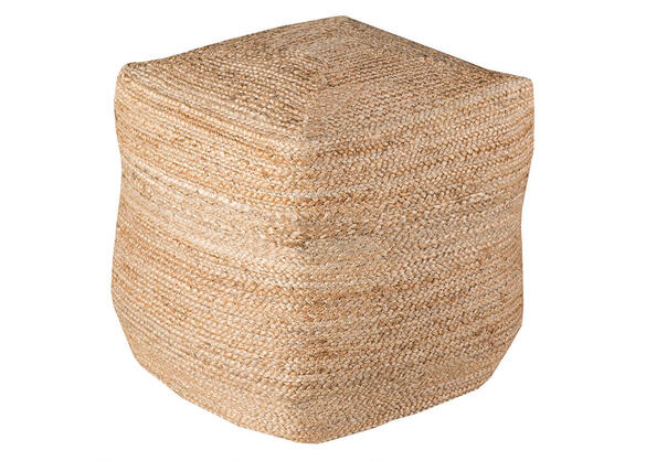 Braided Tan Pouf Tan