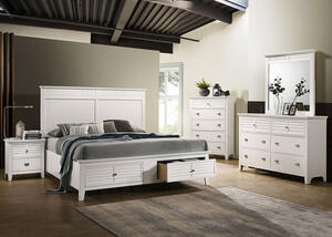 Malibu White 8 Pc. Queen Bedroom