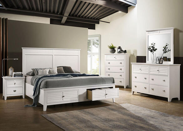 Malibu White 7 Pc. King Bedroom
