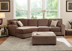 Easton Gray 2 Pc. Sectional w/Cuddler Chaise (Reverse)