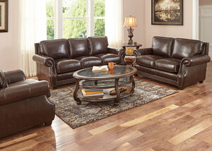 Genoa Chocolate 3 Pc. Living Room
