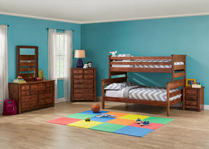 Catalina Chestnut 4 Pc. Twin/Full Bunk Bedroom