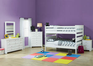 Catalina White 4 Pc. Full Bunk Bedroom