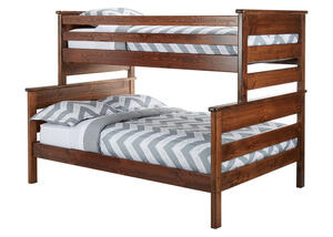 CATALINA TWIN/FULL BUNK BED CH CHESTNUT