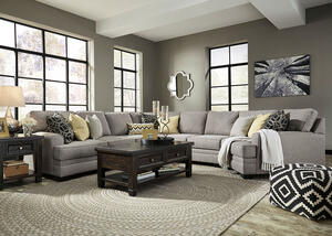 Claudine 5 Pc. Sectional w/Cuddler Chaise