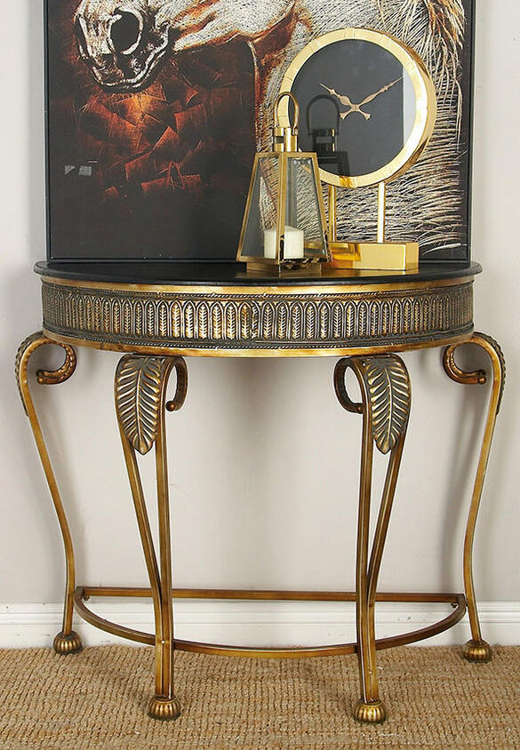 Vega Console Table Yellow