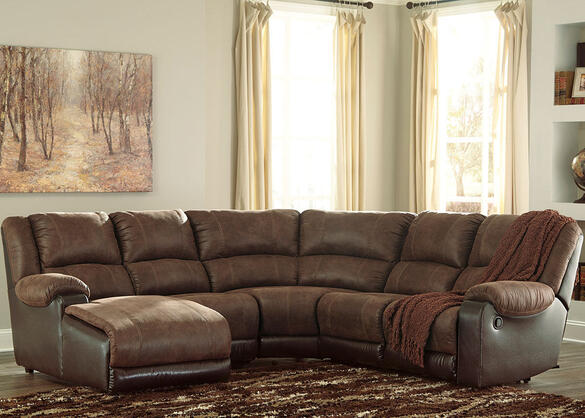 York Coffee 5 Pc. Sectional (Reverse)