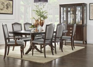 Camilla 7 Pc Dining Room W Silver Chairs