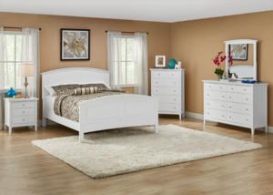 Fulton White 5 Pc King Bedroom