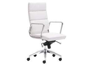 Engineer White High Back Office Chair