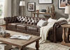 Barrington Faux Leather Extra Wide Sofa