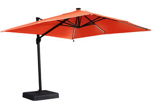 Large Orange Cantilever Umbrella