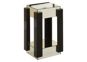 "Lotus 23"" Mirrored Accent Pedestal"