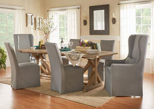 Richland 5 Pc. Dinette w/Gray Slip Cover Chairs