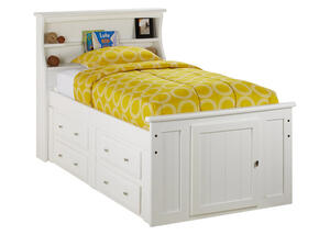 CATALINA TWIN WHT BKCS STORAGE BED WHITE