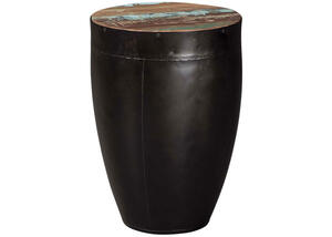 Industrial Black End Table by Scott Living