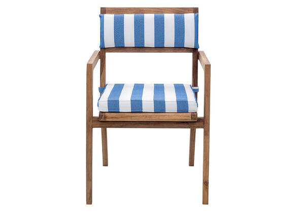 Nautical 2 Pc. Blue & White Dining Chair Set