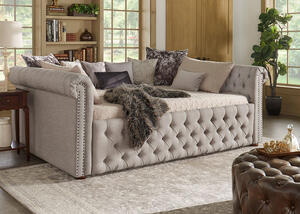 Barrington Gray Linen Full Daybed