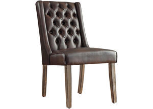Richland Faux Leather Tufted Chair