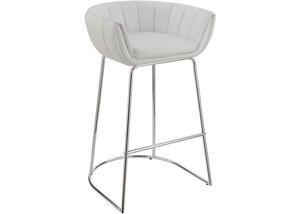 Dixon White Low-Back Bar Stool by Scott Living