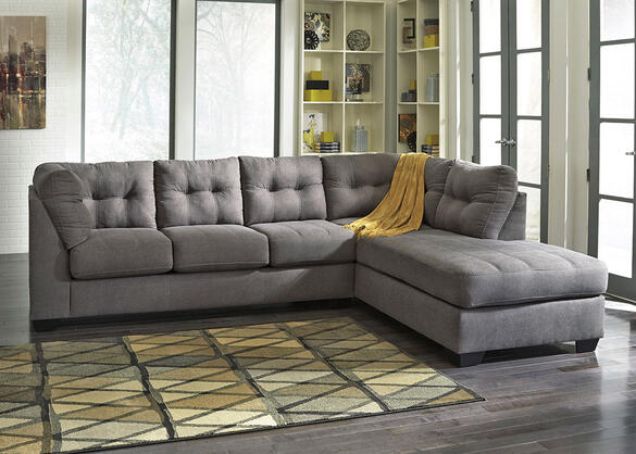 MARLO 2 PC LAF SLPR SECTIONAL CHARCOAL