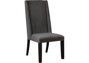 Demi Wing Back Gray Dining Chair by Scott Living