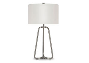 Marduk Nickel Table Lamp Silver