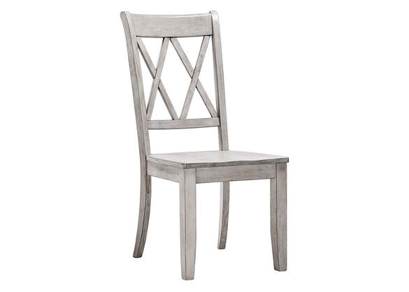 White Double X Back Side Chair White