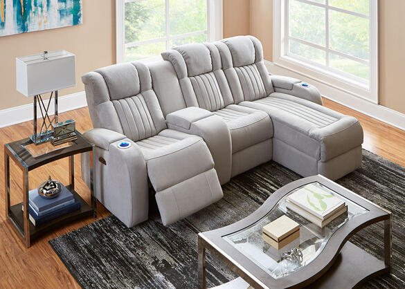 Tesla Fabric 4 Pc. Power Sectional