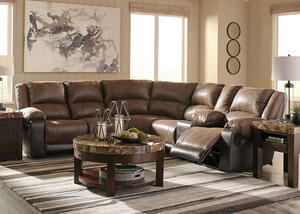 York Coffee 6 Pc. Sectional w/Two Armless Chairs