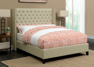 Benicia Beige King Bed by Scott Living