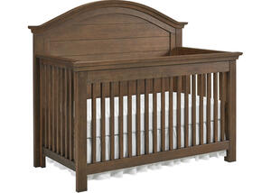 Lucca Weathered Brown Full Panel Convertible Crib by Dolce Babi