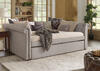 Barrington Gray Linen Full Daybed w/Trundle