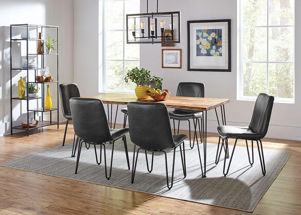 Sherman Gray 7 Pc. Dining Room