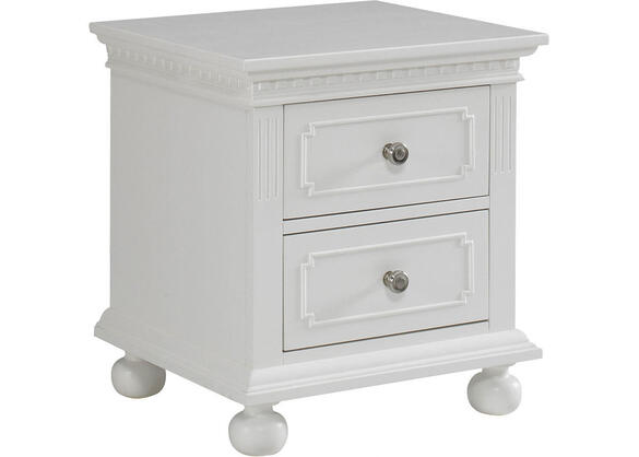 Naples Snow White Nightstand by Dolce Babi
