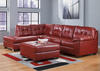 MAXIM 3 PC RAF SECT W/OTTOMAN RED