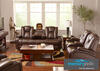 Matrix Brown 3 Pc. Power Living Room with Sationary Loveseat