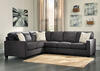 Arthur Charcoal 3 Pc. Sectional (Reverse)
