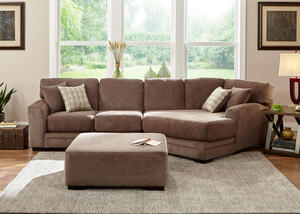 Easton Gray 2 Pc. Sectional w/Cuddler Chaise