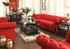 Barrington Red Linen 3 Pc. Living Room